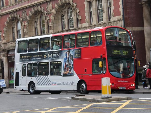 Route 997 National Express West Midlands Bu53unp 4533